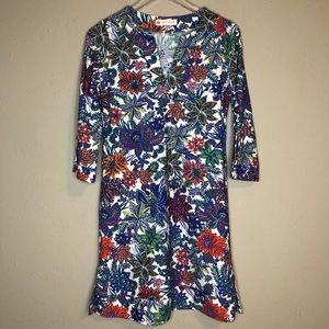 Jude Connally colorful floral dress
